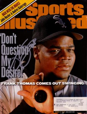 Frank Thomas autographed Chicago White Sox 2000 Sports Illustrated
