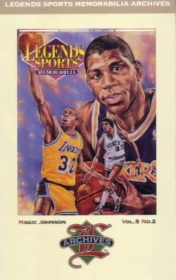 Magic Johnson 1992 Legends Magazine postcard