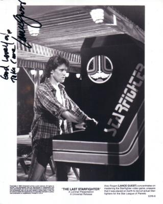 Lance Guest autographed The Last Starfighter 8x10 photo