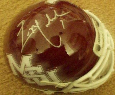 Eric Moulds autographed Mississippi State mini helmet