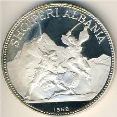 Coins; Albania, 25 leke, Year:1968