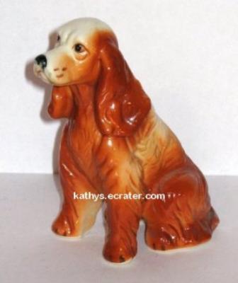 Bone China Red Cocker Spaniel Dog Animal Figurine
