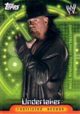 Undertaker WWE Insider 2006 Topps promo card P1