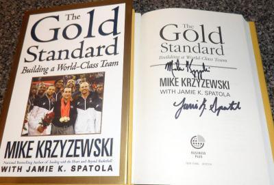 Mike (Coach K) Krzyzewski autographed Gold Standard book