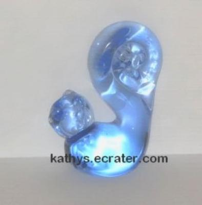 Unmarked Blue Glass Squirrel Animal Figurine
