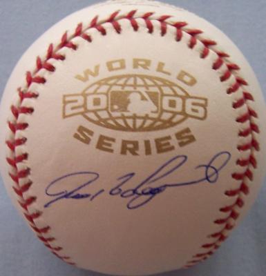 Ivan (Pudge) Rodriguez autographed 2006 World Series baseball