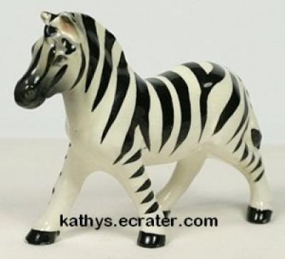 Japan Porcelain Zebra Wild Animal Figurine