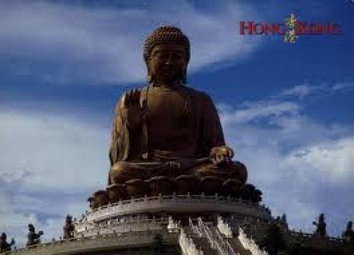 Postcard; Hong Kong Lantau Island Giant Buddha