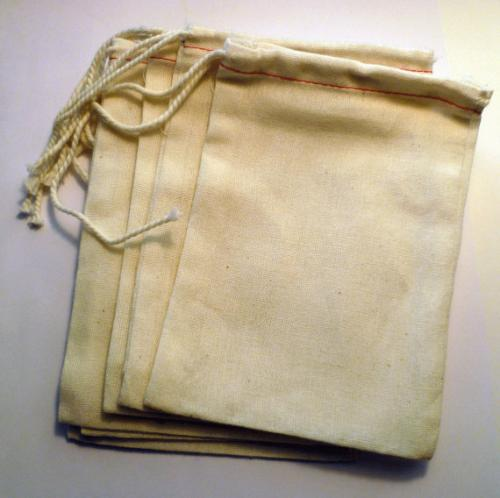 Muslin Bag/ Unbleached Muslin Bag/ Party Favor Bag/ Gift Bag