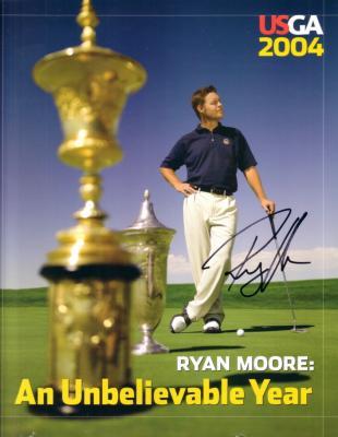 Ryan Moore autographed 2004 USGA golf yearbook
