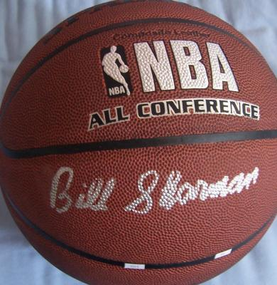 Bill Sharman autographed NBA basketball