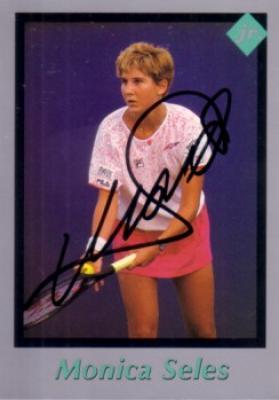 Monica Seles autographed 1991 Tuff Stuff Jr. tennis card