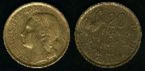 20 francs; Year: 1950-1954; (km 917.2)