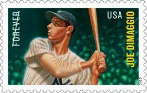 Joe DiMaggio US Postal Service 2012 Stamp