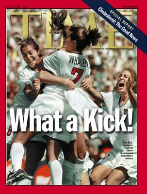 1999 U.S. Women's Soccer World Cup Champions Time magazine MINT
