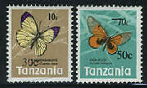 Butterflies, overprints 2v; Year: 1979