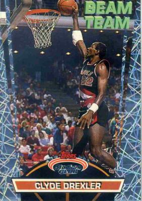 Clyde Drexler 1992-93 Stadium Club Beam Team insert card