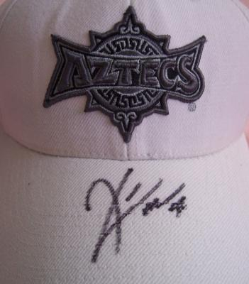 Kirk Morrison autographed San Diego State cap
